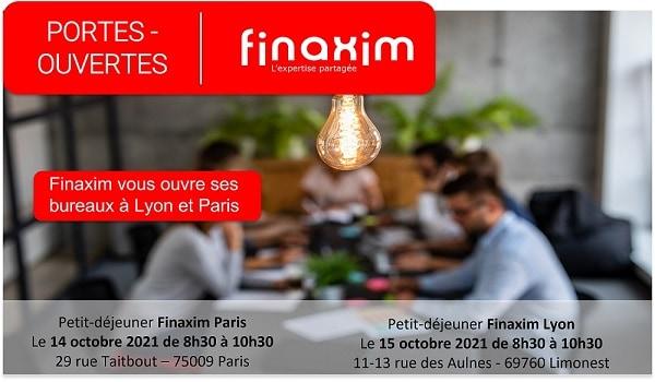 Invitation Portes-ouvertes | Finaxim Paris - Lyon - 14 & 15 octobre 2021